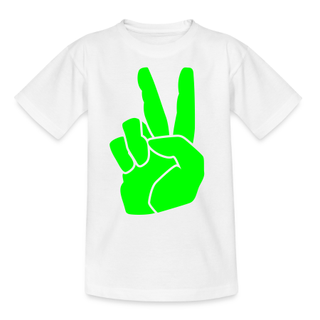 oranje t-shirt peace neo groen goudoranje