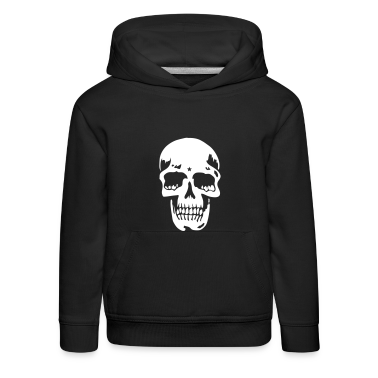 Blu scuro skull pirate death heavy metal Pullover bambini