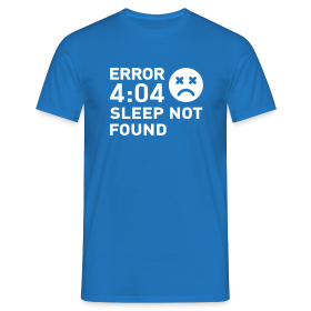 Error Sleep Not Found - Homme