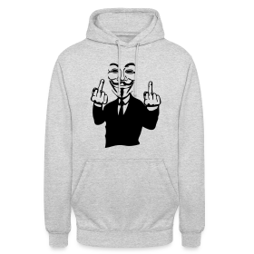 Sweat à capuche Anonymous fuck