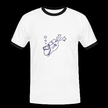 Blanc/marine grenouille plongée T-shirts