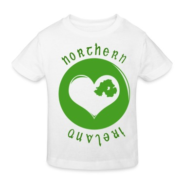White northern_ireland_heart Kids' Shirts