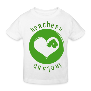 White northern_ireland_heart Kids' Shirts