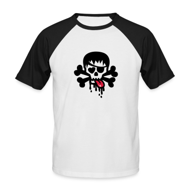 White/black totenkopf bad skull Men's T-Shirts