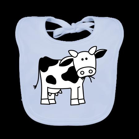slabbetje met koe sky blue