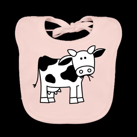 slabbetje met koe roze