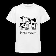 kindershirt koe met kalfje en je naam