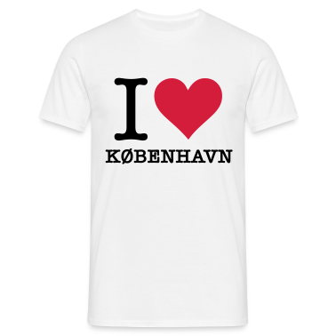White I Love Kobenhavn (2c, NEU) Men's T-Shirts