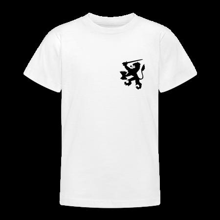 oranje kinder t-shirt leeuw met achterop je naam goudoranje