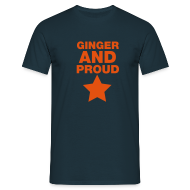 T-Shirts ~ Men's Standard T-Shirt ~ Ginger And Proud Star