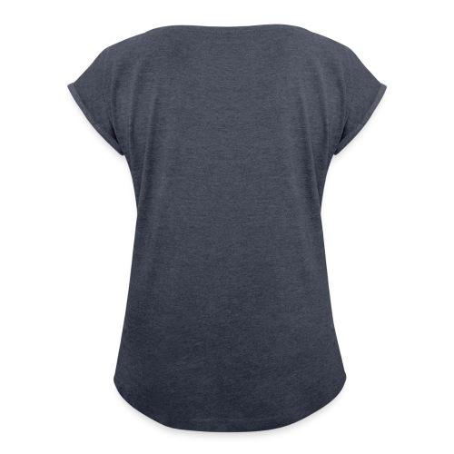 Er Ist Mein Anker Partnermotiv Sie Ist Mein Segel Frauen T-Shirt mit gerollten