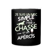 Chasseur - un mec simple Bouteilles et Tasses