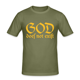 God Does Not Exist - Men's Slim Fit T-Shirt