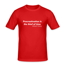 Procrastination - Men's Slim Fit T-Shirt
