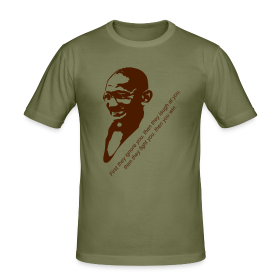 Ghandi Quotation - Men's Slim Fit T-Shirt