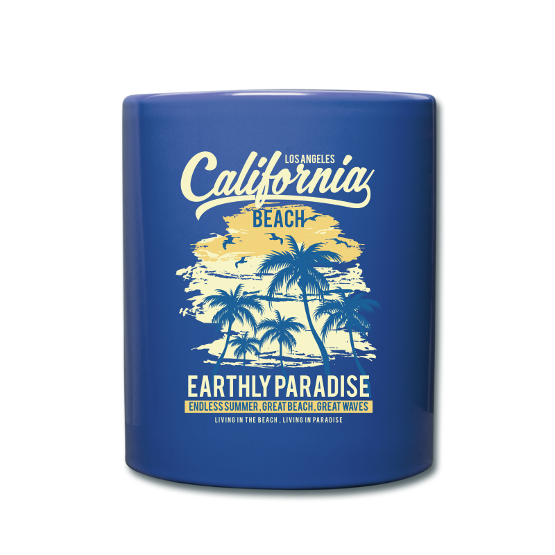 Blue Mug - California - Full Colour Mug