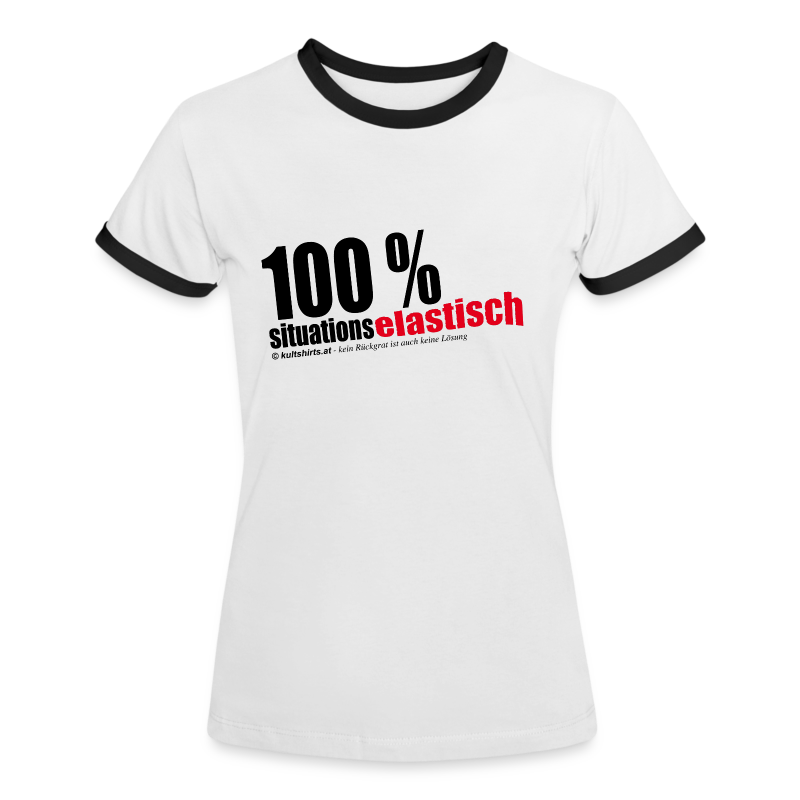 situationselastisch - Frauen Kontrast-T-Shirt