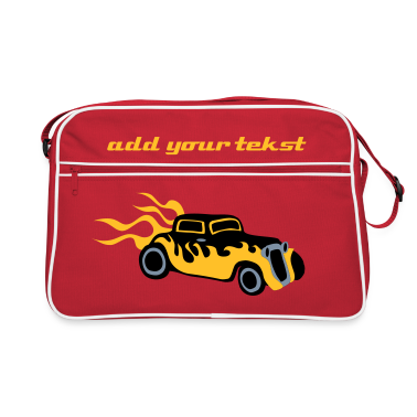 Red/white Retro hotrod Hottie by patjila Bags