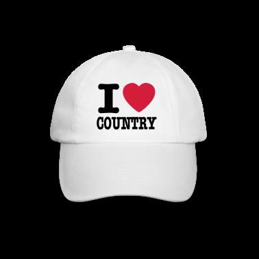 Weiß/weiß i love country / i heart country Caps & Mützen