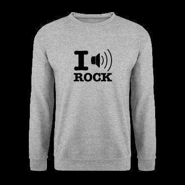 Grigio melange i music rock / I love rock Pullover