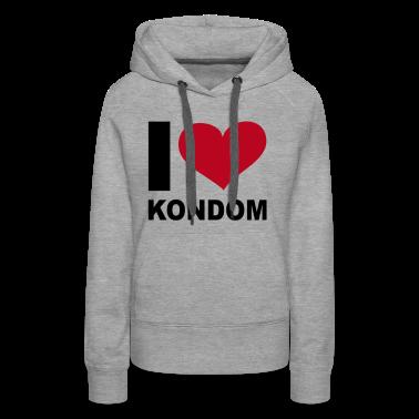 Grau meliert I LOVE Kondom - eushirt.com Pullover