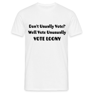 T-Shirts ~ Men's Standard T-Shirt ~ Don't Usually Vote?  Men's T-Shirt