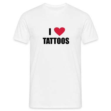 White i love tattoos Men's T-Shirts