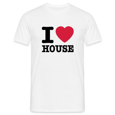 Bianco I love house / I heart house T-shirt