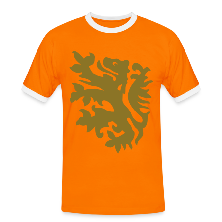 wk leeuw supporter shirt naranja/blanco