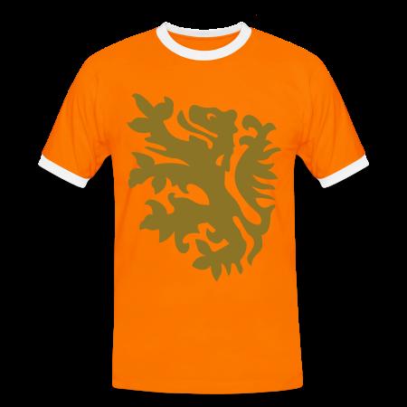 wk leeuw supporter shirt naranja/blanco