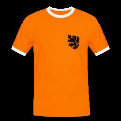 retro voetbal landenshirt naranja/blanco
