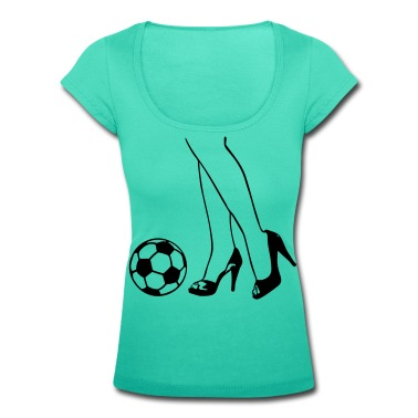 Aqua green Light green White/black Soccer - Woman - Legs - High Heels T-Shirts T-Shirts T-Shirts