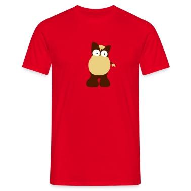 Rosso Cavallo in stile cartone animato T-shirt