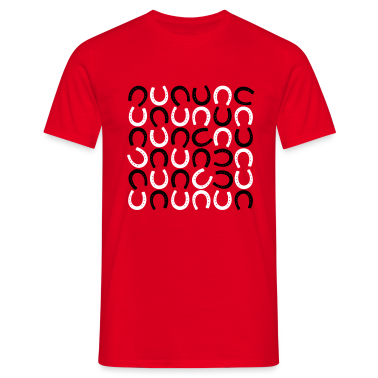 Rouge Horseshoe pattern - fer à cheval T-shirts