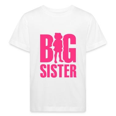 White Big Sister Kids' Shirts