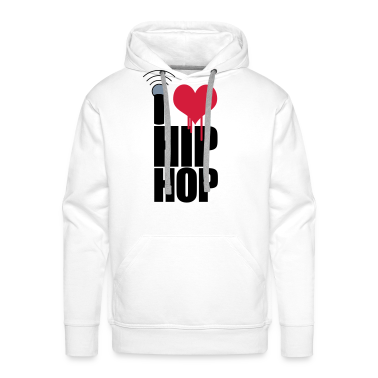 White I Love Hip Hop Hoodies & Sweatshirts
