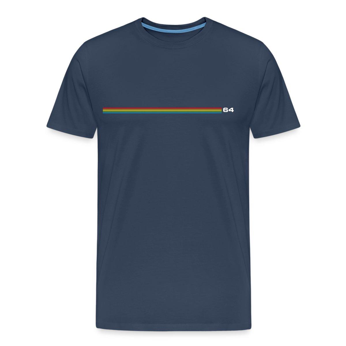 regenbogen streifen 64 herren t shirt von spreadshirt ebay. Black Bedroom Furniture Sets. Home Design Ideas
