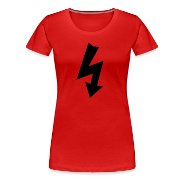 Red Electricity Symbol Women's T-Shirts