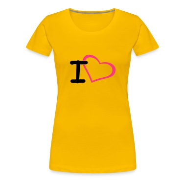 Light pink i heart Women's T-Shirts