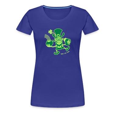 Diva blue Saint Patrick's Leprechaun Women's T-Shirts