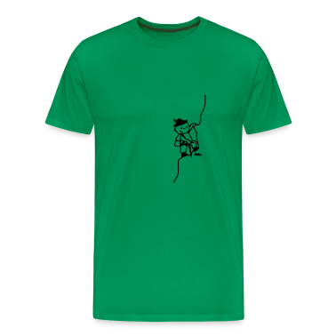 Grass green Mountaineer Men's T-Shirts