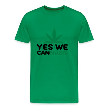 Moss green Yes we Cannabis 4 (2c) Men's T-Shirts