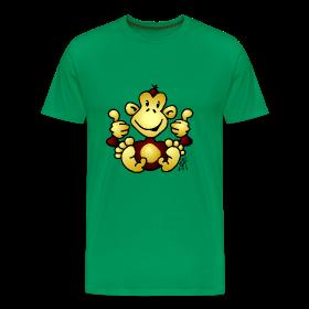 Aap op een T-shirt