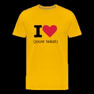 T-shirts ~ Mannen Premium T-shirt ~ I Love Shirt (opdruk zwart)