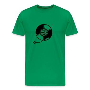 Kelly green Plattenspieler / record player (1c) Men's T-Shirts