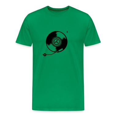 Vert tendre tourne-disque / record player (1c) T-shirts
