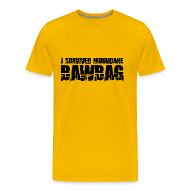 T-Shirts ~ Men's Premium T-Shirt ~ I Survived Hurricane BawBag