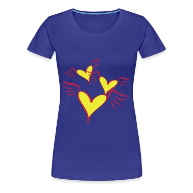 Flying Heart Women's Girlie Shirt