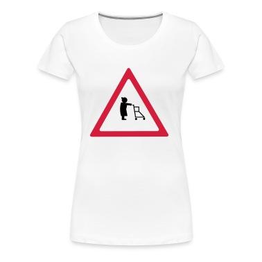 Attention pensionists Damer girlie-shirt