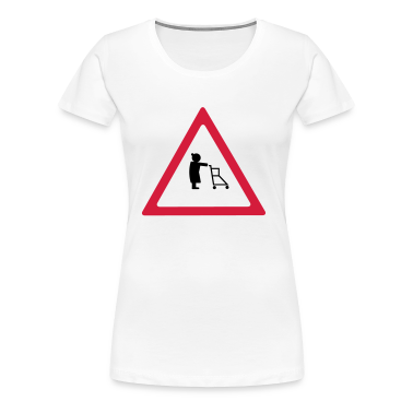 Attention pensionists Damer girlie-shirt